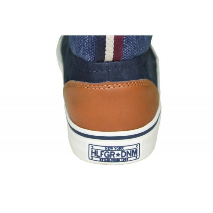 Baskets montantes Tommy Hilfiger Vic bleu marine pour homme TBkYBuMcb2
