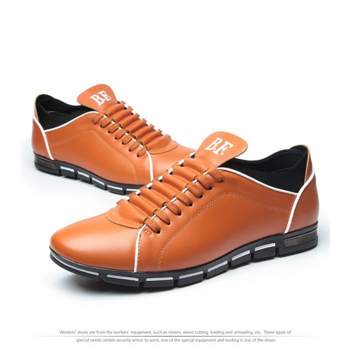 hommes chaussures occasionnels chaussures en cuir de mode pour hommes chaussures plates d'été hommes Dropshipping Grande taille 4MZah4zCB