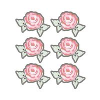 STICKERS Rayher - Autocollants 3D  4cm - Rose romantique av