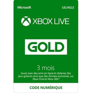 CARTE MULTIMEDIA Abonnement Xbox Live 3 mois