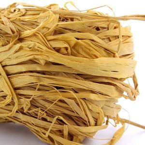 HEYDA Raphia végétal Jaune renoncule 50g