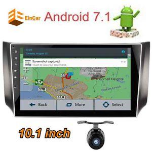 AUTORADIO Android 7.1 Quad Core 10,1 pouces Bluetooth HD cap