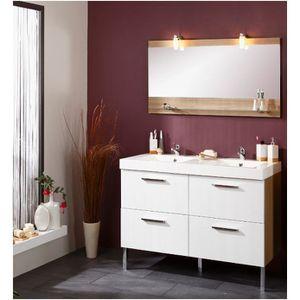 Meuble 2 vasques Salle de bain & son miroir SAVINO - Achat ...