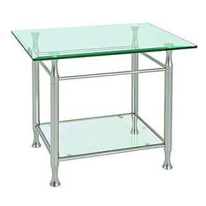 TABLE BASSE Haku Möbel 39820 Table Basse d'Appoint Tube d'Acie