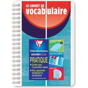 CARNET DE NOTES CLAIREFONTAINE Carnet de vocabulaire reliure Kover