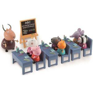 UNIVERS MINIATURE PEPPA PIG la Salle de Classe + 7 personnages