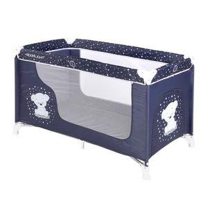 LIT PLIANT  Lit parapluie / pliant pour bébé MOONLIGHT 1 Bleu