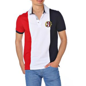 POLO M.Conte Homme Polo Manches Courtes Osmond Rouge-Bl