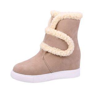 BOTTINE Femme Hiver Neige Cheville Boots Chaudes Fourrure
