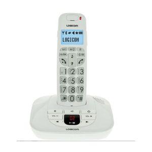 Téléphone fixe Téléphone filaire avec répondeur Logicom Confort 1