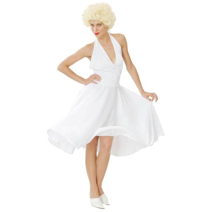 d guisement blanc de marilyn monroe femme taille unique achat vente d guisement panoplie. Black Bedroom Furniture Sets. Home Design Ideas