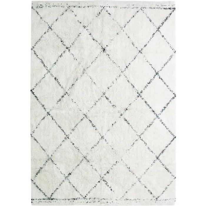 Tapis de salon blanc achat vente tapis de salon blanc pas cher cdiscount - Tapis blanc salon ...