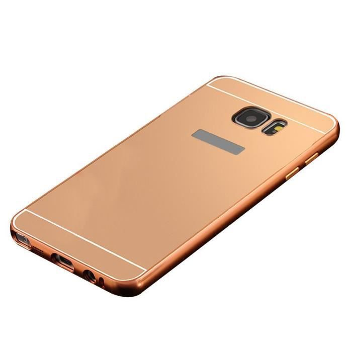 coque samsung galaxy s7 edge miroir rose gold achat. Black Bedroom Furniture Sets. Home Design Ideas