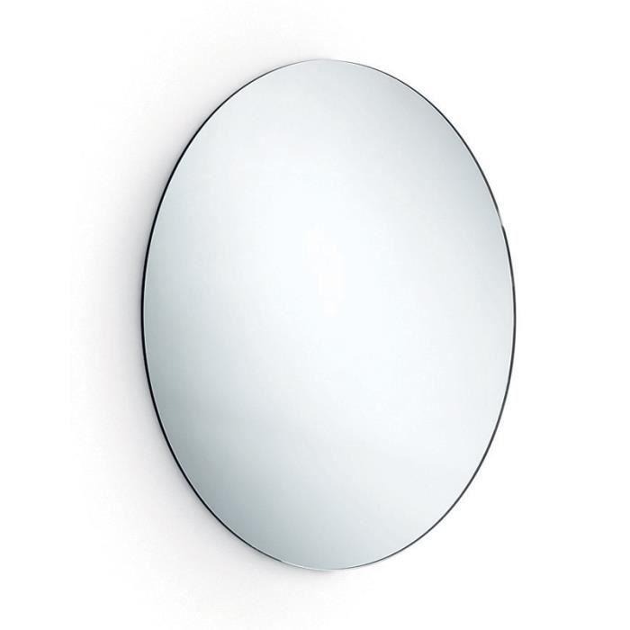 Miroir rond biseaut pour salle de bains achat vente for Miroir 3 volets salle de bain