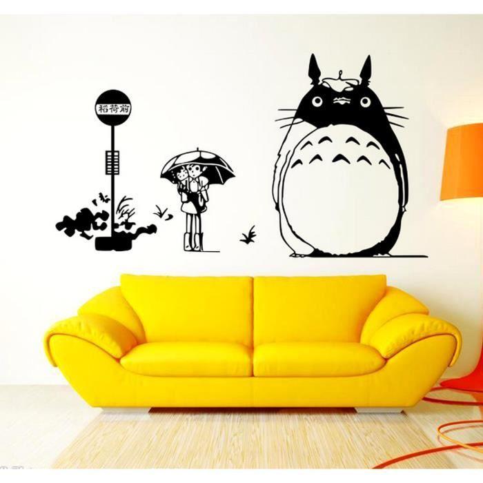 Demarkt 3d Sticker Mural Mon Voisin Totoro Papier Peint D Coration Murale Pour Enfant Chambre