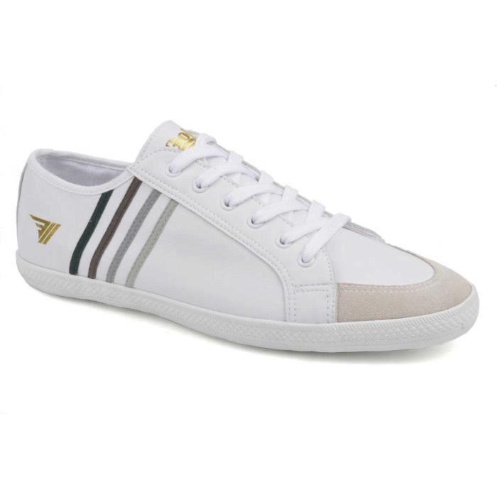 Chaussure Basse Gola Quad Cuir Blanc Homme Pointure 44