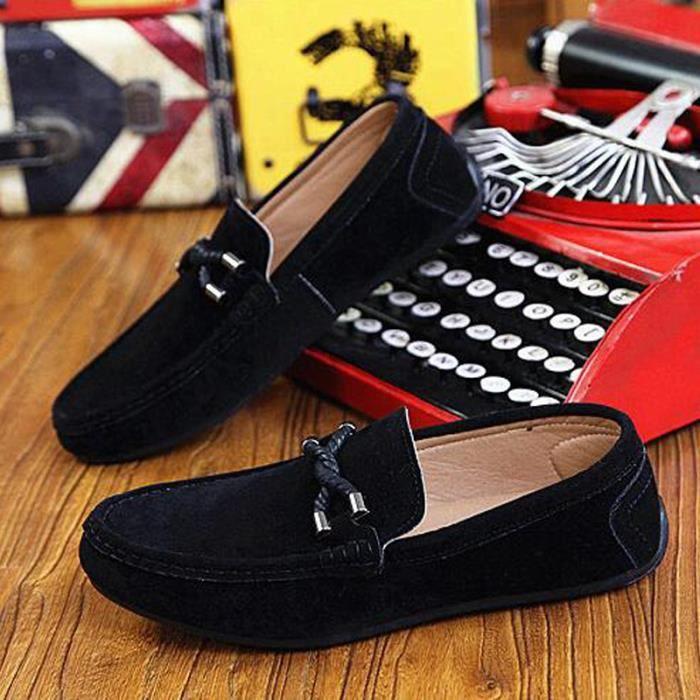 6a39ea7fd70 Chaussure Homme Basket Skate Shoes Bateau Shoes KIANII® Noir Noir ...