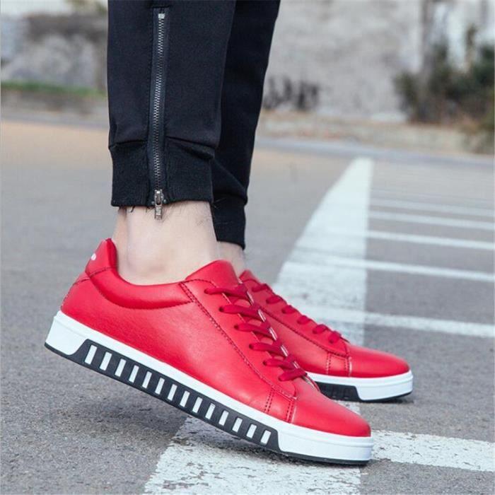 Hommes Sneaker Meilleure Qualité Durable Chaussures De Marque De Luxe Sneakers Confortable Classique Nouvelle arrivee Grande Taille Blanc Blanc - Achat / Vente basket  - Soldes* dès le 27 juin ! Cdiscount