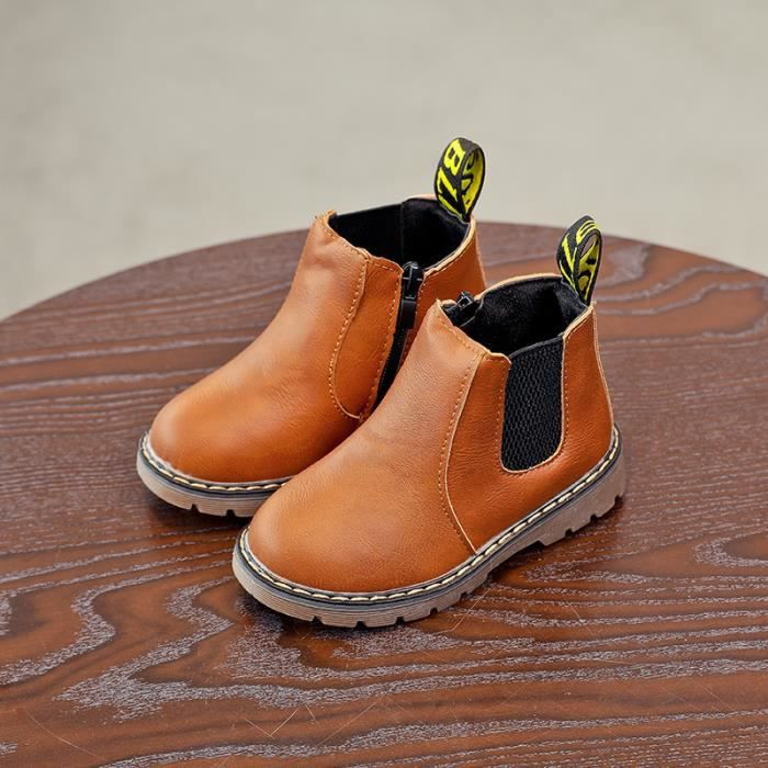 Style britannique bottes pour enfants Bottes Martin antidérapantes garder au chaud Bottes de neige