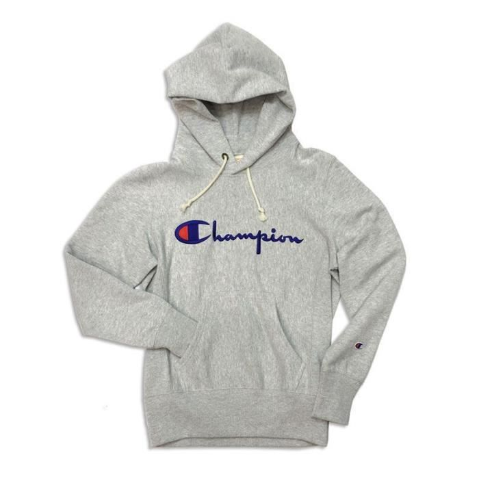 Pull Champion Usa - Hooded Sweatshirt Grey S18 Gris Gris - Achat ... 611aa28a4749