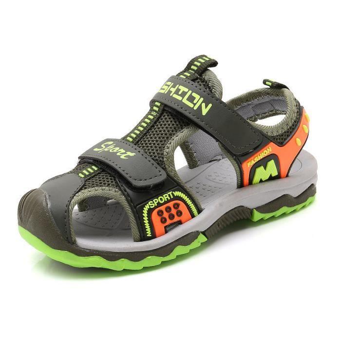 8f7e423389208 Stars® Sandales Enfant Garçon Chaussures Été de Sport Bout Fermé ...