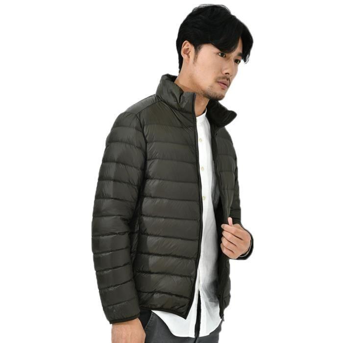 D'hiver Zipper Des Bas Support Le Veste Hommes Manteaux vent Coupe Collier Vers Solide Outwear Chaud UaBwqR