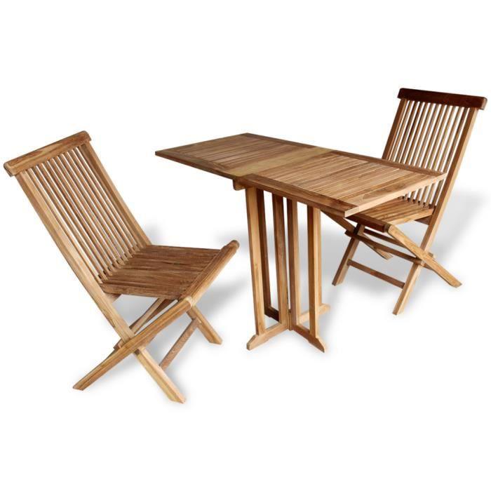 Ensemble 3pcs Meuble Manger 1 Table De Papillon Et 2 Chaises Pliants Dextrieur Dtendre Jardin Terrasse Patio Balcon En Bois