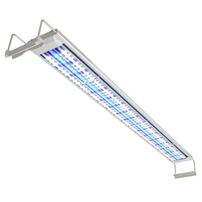 Vidaxl Lampe À Led Pour Aquarium 120-130 Cm Aluminium Ip67