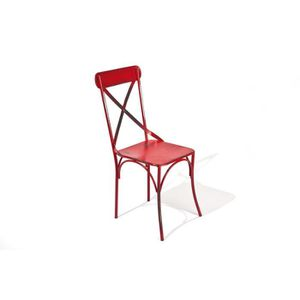 Chaise bistrot rouge achat vente chaise bistrot rouge pas cher cdiscount - Chaise de bistrot ancienne ...
