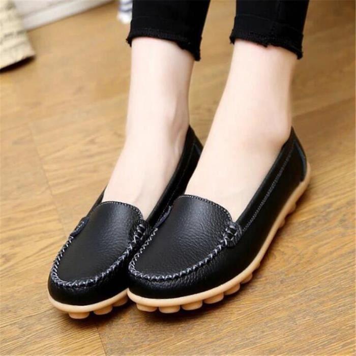 Mocassin Femmes ete Loafer Respirant Chaussures BGD-XZ055Jaune39