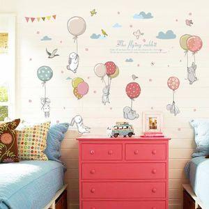 De Haute Qualite STICKERS Balloon Bunny Enfants Chambre Chevet Armoire Fond