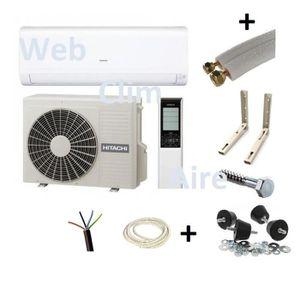 CLIMATISEUR FIXE Climatiseur réversible Hitachi 3.5 Kw avec kit de