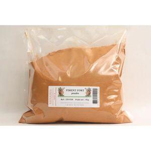 EPICE - HERBE Piment fort poudre sachet économique de 1 Kilogram