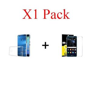ACCESSOIRES SMARTPHONE X1 pack, pack verre+coque Huawei P20 Lite protecti