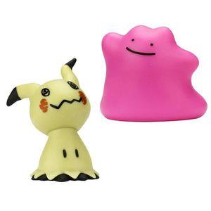 FIGURINE - PERSONNAGE POKEMON - Pack de 2 figurines 5 cm Mimiqui et Méta