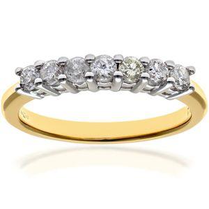 BAGUE - ANNEAU Revoni Bague alliance Diamant Or Jaune 750° Femme:
