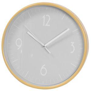 HORLOGE - PENDULE Horloge murale en plastique coloris gris mat - Dim
