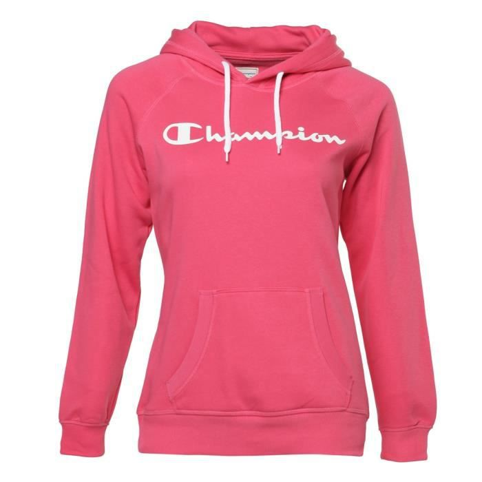 Champion Sweat Capuche Vente Femme Rose Sweatshirt Shirt Achat prwqYpH
