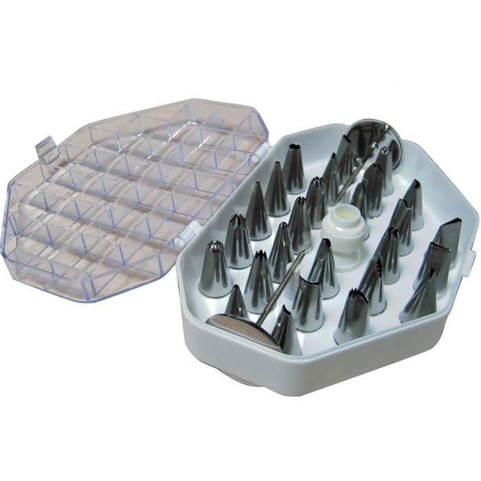 Ces douilles permettent de réaliser des décors fins en glaçage ou chocolatPOCHE A DOUILLE - PISTOLET - SERINGUE