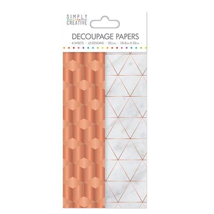 LA FOURMI Papier Découpage - Cuivre Industriel - 18,8x35cm x 4fl. (2x2 modèles)