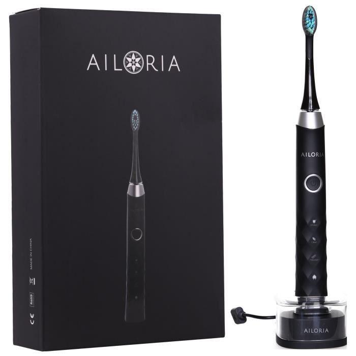 AILORIA SHINE BRIGHT SB-171P 50345218 - Brosse à dents à technologie sonique USB - Noir et argent
