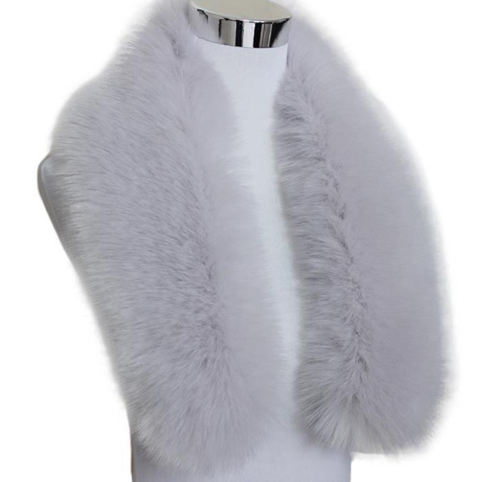 Col en fausse fourrure écharpe col femmes étole Echarpes gris clair  LXX61013202GY2 1904 0a7f59aede0