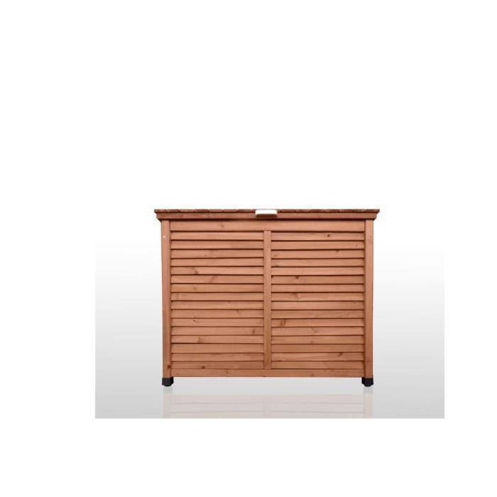 armoire exterieur de rangement pour terrasse et jardin en bois 103x56x79 kubone par jarsya. Black Bedroom Furniture Sets. Home Design Ideas