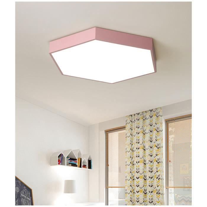 Lu0027hexagone Léger Simple De Chambre à Coucher Moderne Mince A Mené La Lampe  De Plafond (lumière De Double Couleur)