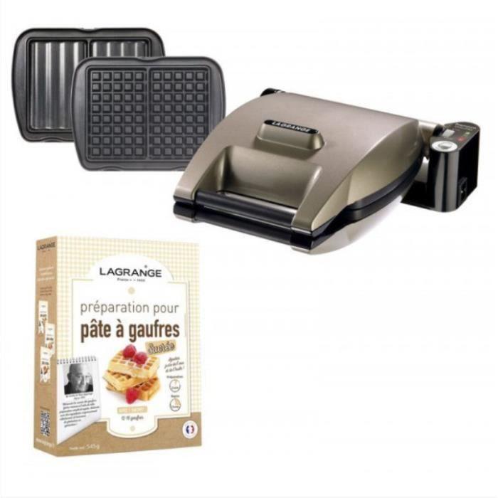 Lagrange - gaufrier + croque monsieur + préparation pâte 1200w ...