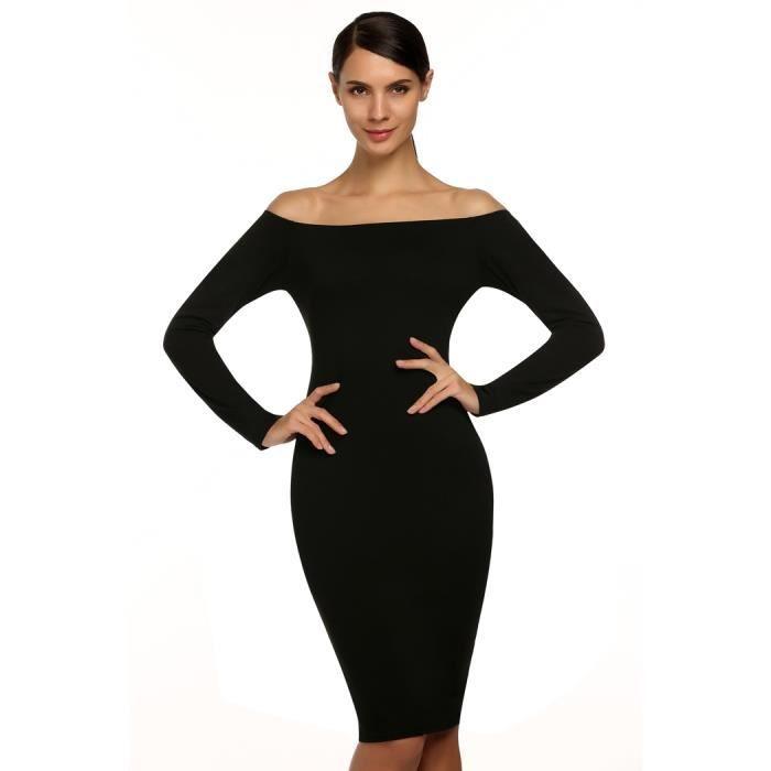 44c689658c9 FINEJO robe femme élégantes au loinépaule manc - gatstraining.com