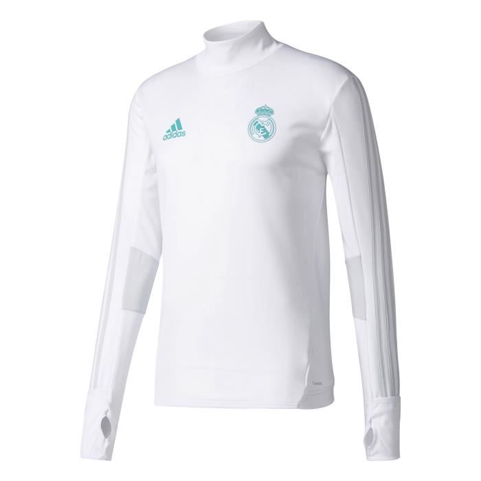 purchase cheap 32b0b 25fd7 COUPE-VENT DE SPORT Training Top Real Madrid 2017-2018 Blanc