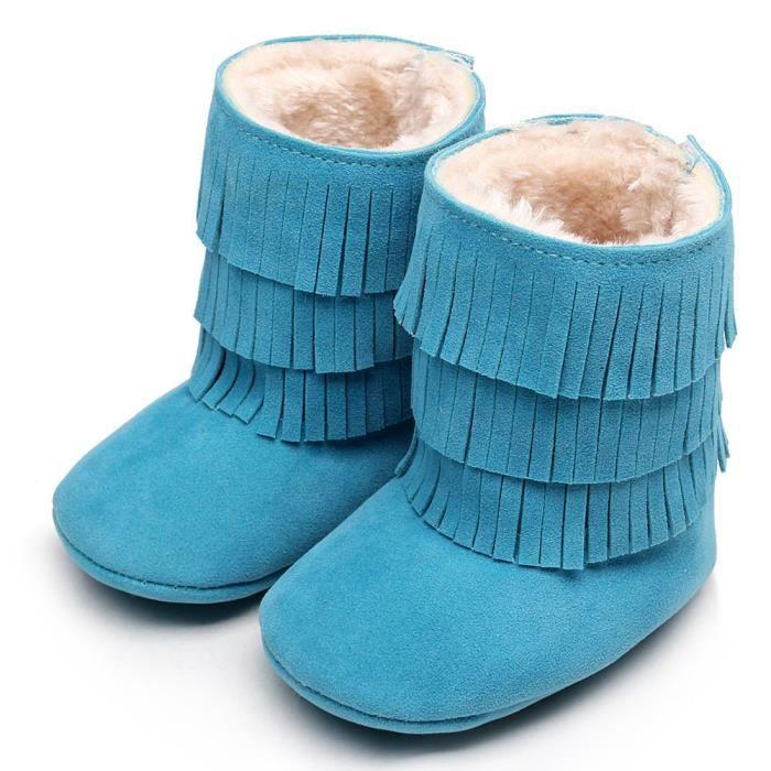 Garder chaud double-deck glands Soft neige bottes Soft berceau chaussures tout-petits Botts bleu