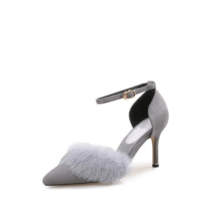 Escarpin Pointu Toes Pompes mince sangle à boucle à talons hauts Chaussures femme 4027832