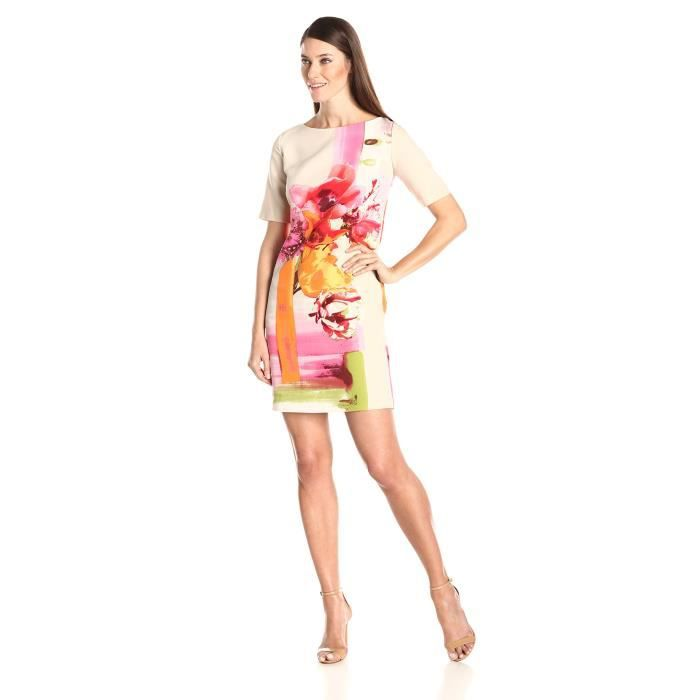 Craze usure élégante crayon de travail cocktail moulante robe de soirée B342 S3C09 Taille-36